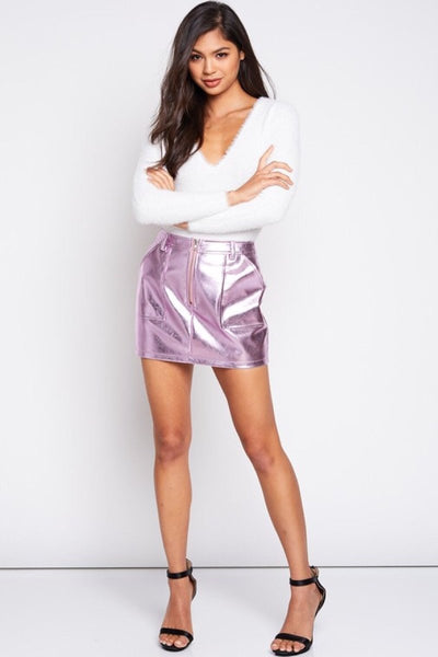 Lilac Holographic Skirt