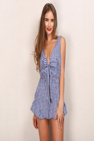 Sophie Gingham Playsuit