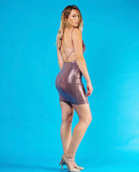 Kylie Sequin Dress