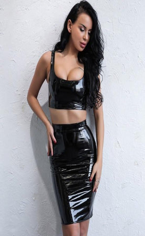 Alanna Latex Two Piece
