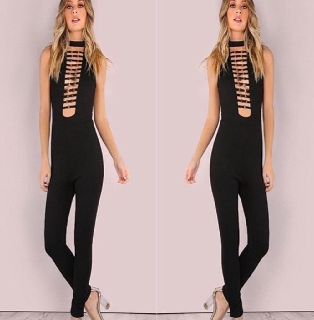 Buckle up Bandage Jumpsuit