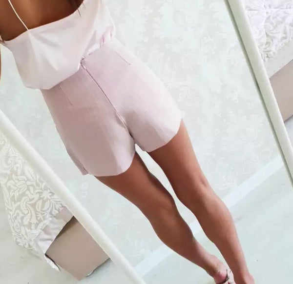 Stunning Blush Two Piece Suit