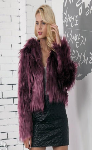 Stefani Faux Fur Coat