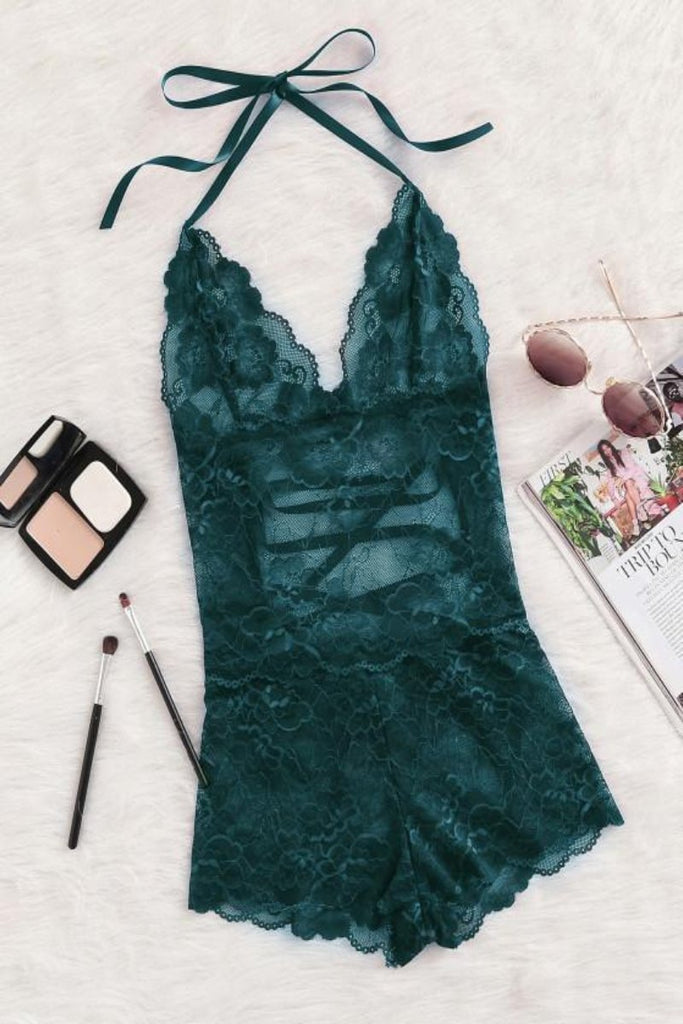 Laura Lace Romper