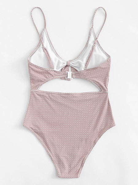 Shelly Lilac Bow Swimsuit