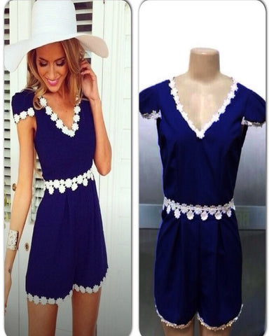 Navy Daisy Playsuit