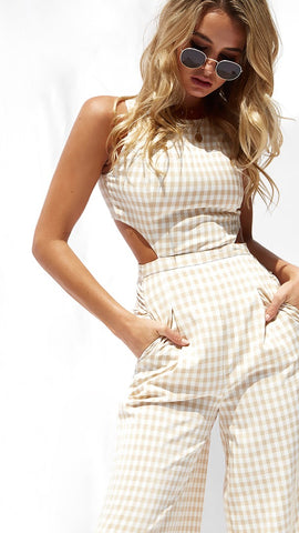 Poppy Gingham Jumpsuit