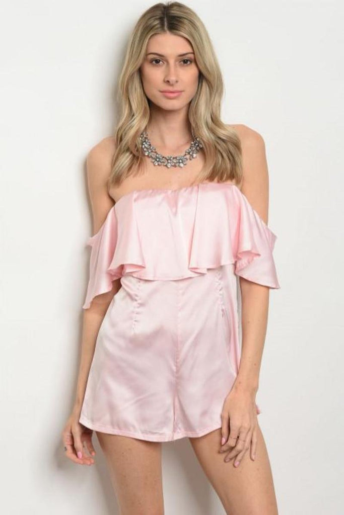 Belle Satin Romper