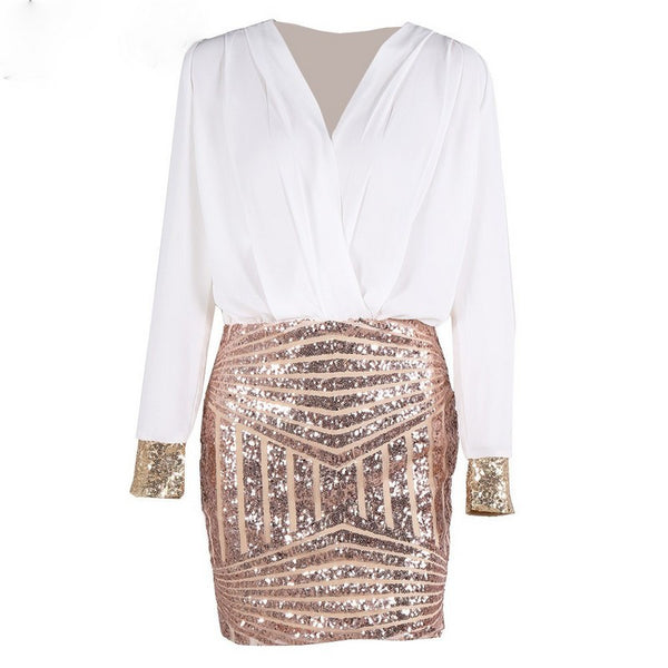 Lucy Sequin Wrap Dress