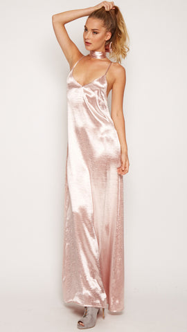 Britney Satin Maxi Dress