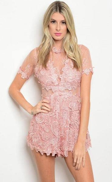 Taylor Pink Playsuit