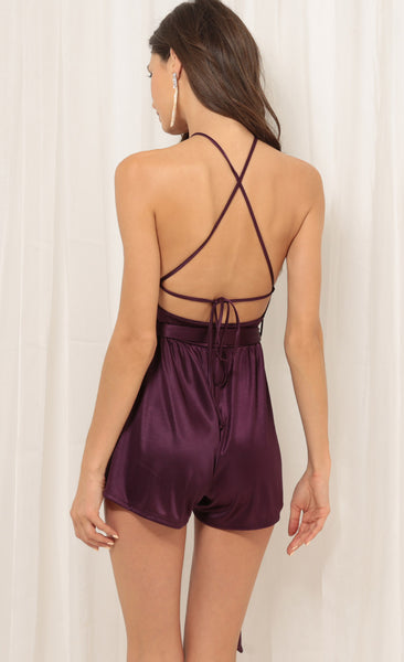 Vanessa Satin playsuit