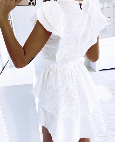 Stacey White A-Line Dress