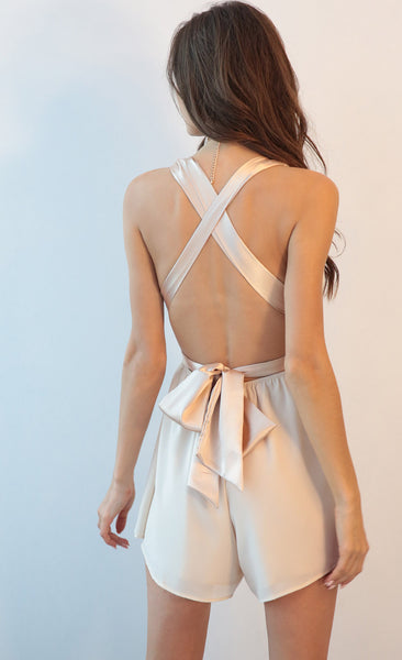 Wrap me up Champagne Romper
