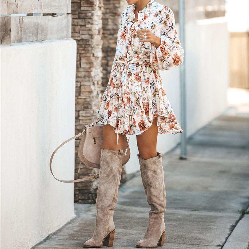 Floral Sashes Shirt Dress Beach - Other Hands