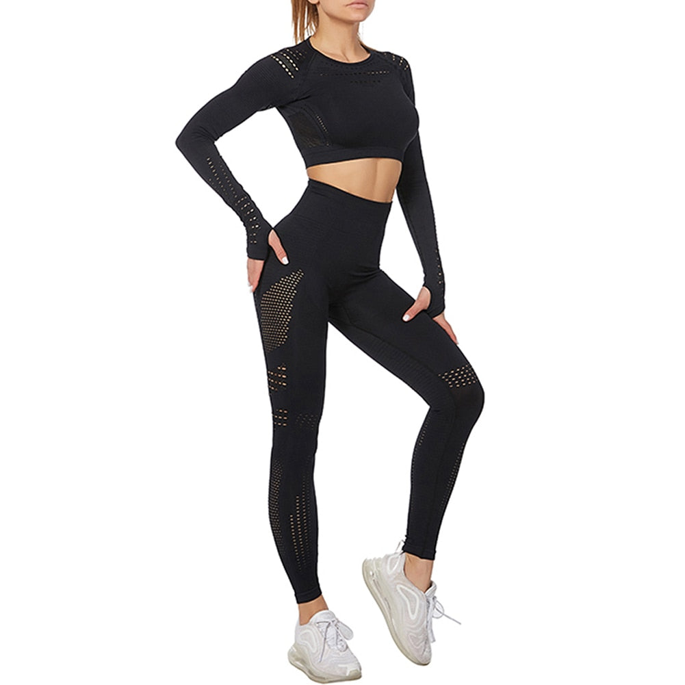 Seamless 2 Piece Yoga Leggings and Tops - Other Hands