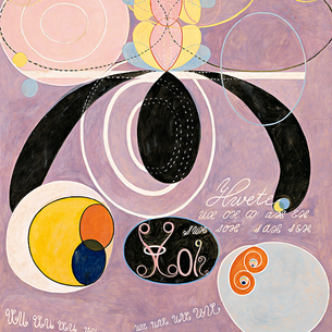 This new lilac-hued Hilma Af Klint coils into adulthood.