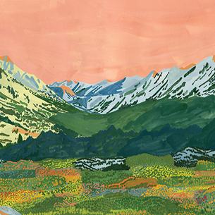 New artist! Ariel Lee's glowing California landscape
