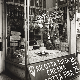 For the love of formaggi: an old school Italian cheese shop in B+W