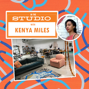 Tour the two Baltimore studios where Kenya Miles masters her craft.