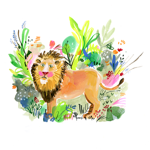 "Mane squeeze: Jennifer Orkin Lewis's loveable ""Lion in Tall Grass"""