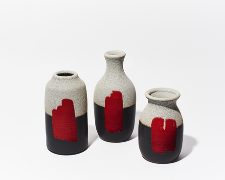 "New! Kyle Scott Lee's ""Red Sun Vases"" are a ray of light."