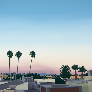 "New! Painter Lindsey Warren's warm LA ""Welcome""."