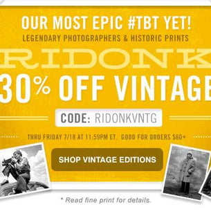 RIDONK: Our Most Epic #TBT Yet!  30% Off Vintage Editions
