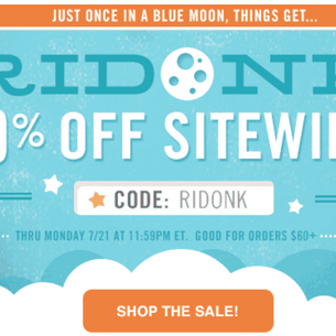 RIDONK: 20% Off Sitewide (With a Few Exceptions)