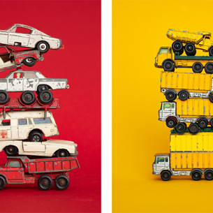 Two color-popping portraits of toy cars—new from Don Hamerman!