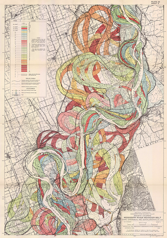 Plate 22, Sheet 2, Ancient Courses Mississippi River Meander Belt