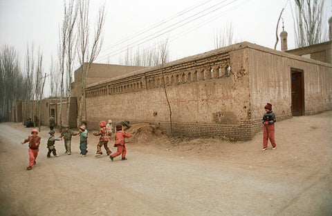 Kids at Play, Dusk, Kashgar