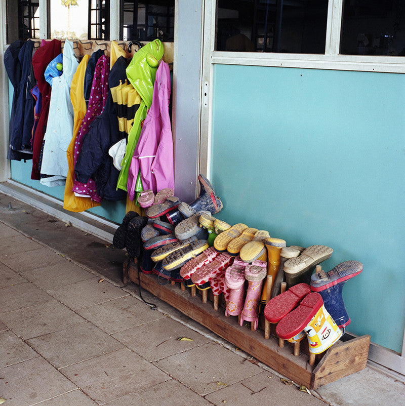 Boots and raincoats, San Diego, California