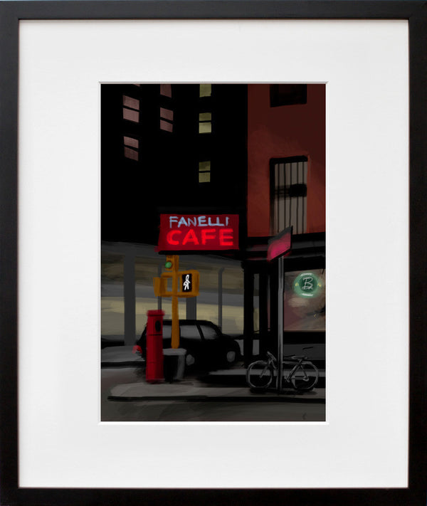 Corner Cafe (framed + quick-ship)