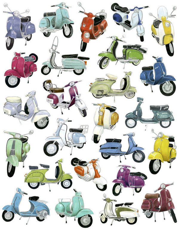 25 Scooter Drawings