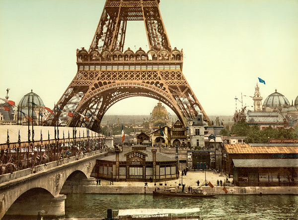 Eiffel Tower, grounds, Exposition Universelle, 1900