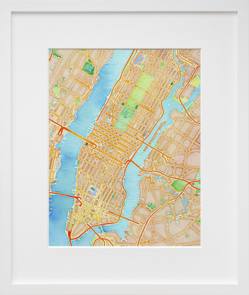 Stamen Design\'s Watercolor New York - 20x200