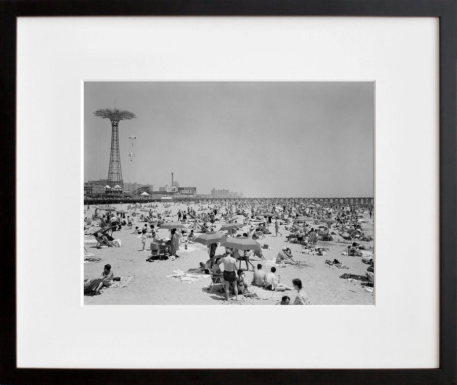 Parachute Jump and Beach Scene, Coney Island, ca. 1965