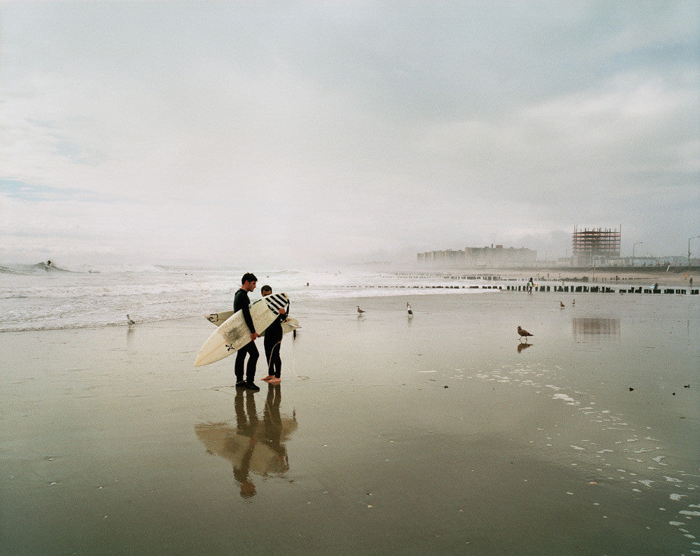 Two Surfers at Rockaway Beach 2009