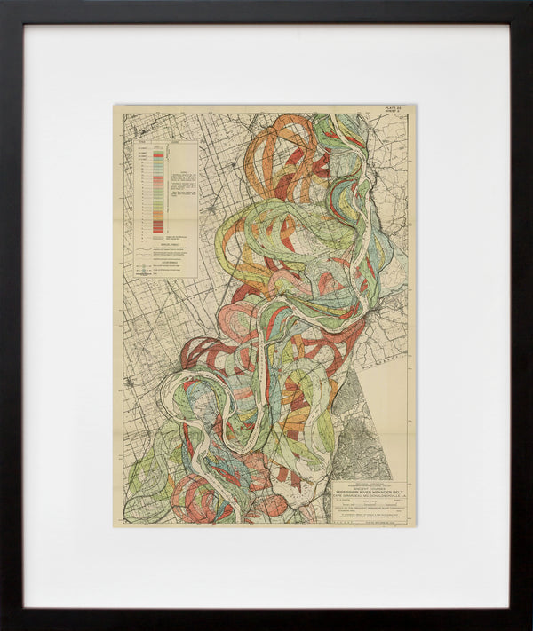 Plate 22, Sheet 2, Ancient Courses Mississippi River Meander Belt (framed + quick-ship)