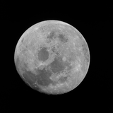 AS11-44-6667 (Full Moon View from Apollo 11)