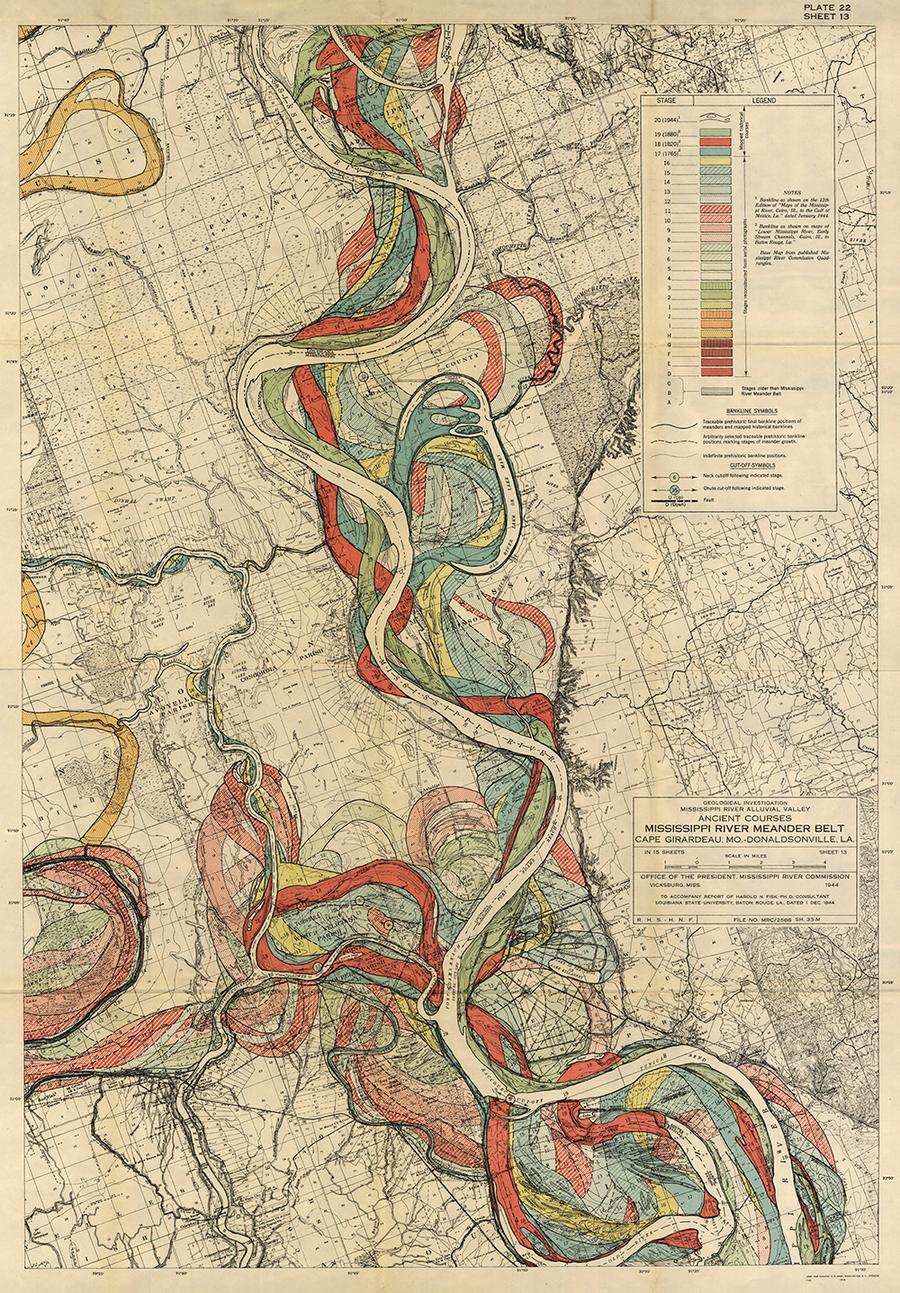Plate 22, Sheet 13, Ancient Courses Mississippi River Meander Belt