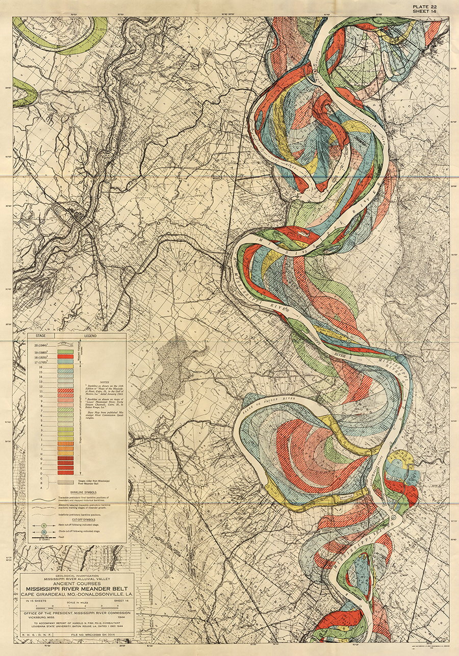 Plate 22, Sheet 14, Ancient Courses Mississippi River Meander Belt