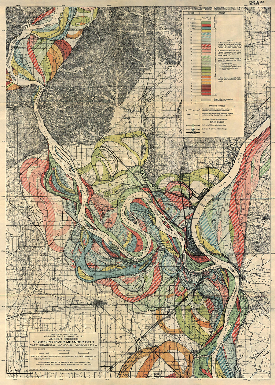 Plate 22, Sheet 1, Ancient Courses Mississippi River Meander Belt