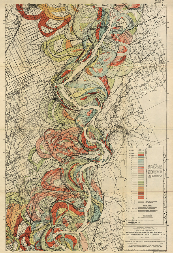 Plate 22, Sheet 4, Ancient Courses Mississippi River Meander Belt