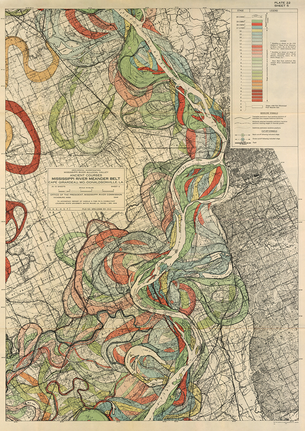 Plate 22, Sheet 5, Ancient Courses Mississippi River Meander Belt