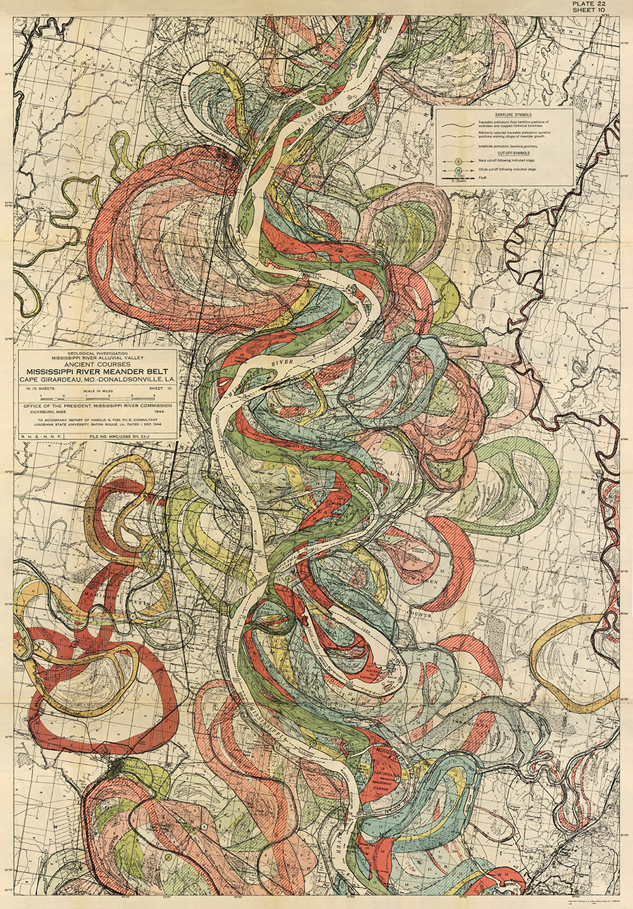 Plate 22, Sheet 10, Ancient Courses Mississippi River Meander Belt