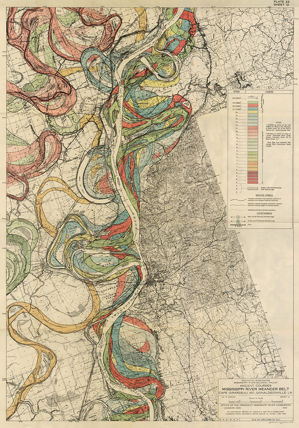 Plate 22, Sheet 12, Ancient Courses Mississippi River Meander Belt