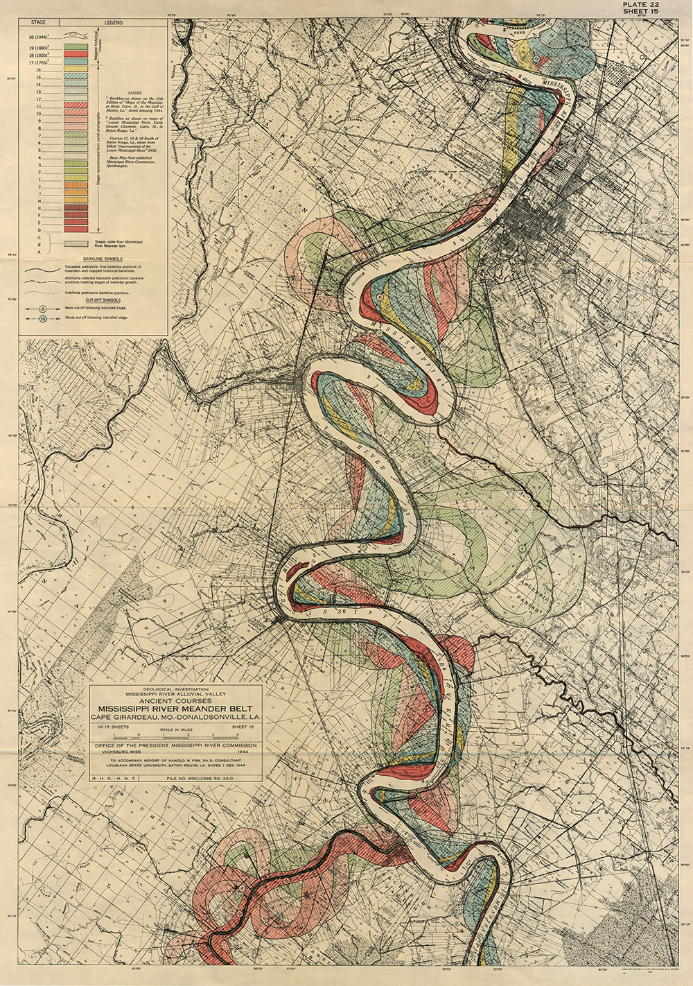Plate 22, Sheet 15, Ancient Courses Mississippi River Meander Belt