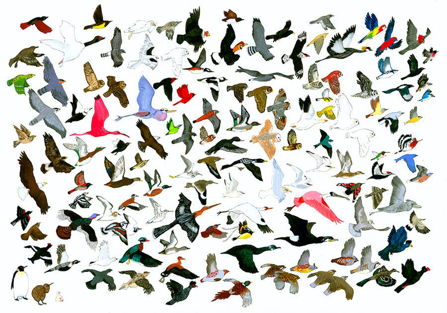 132 Birds Leaving AMNH (Response to Jason Polan)